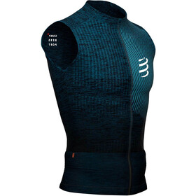Compressport Trail Postural Top Sin Mangas Hombre, blue/melange